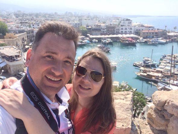 Алексей и Катя Зимины на Кипре 2017