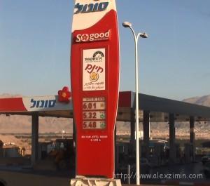 заправки и цены на бензин в израиле