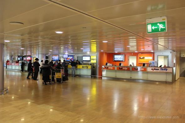 Прокатные конторы в аэропорту Тель-Авива Бен Гурион