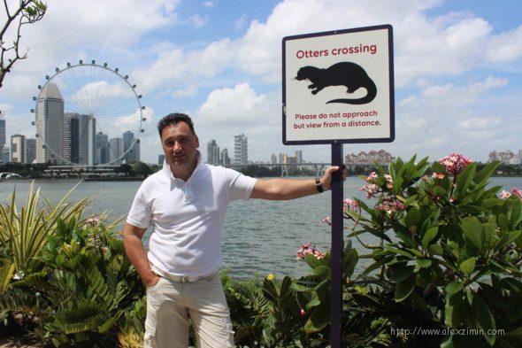табличка в садах у залива в сингапуре