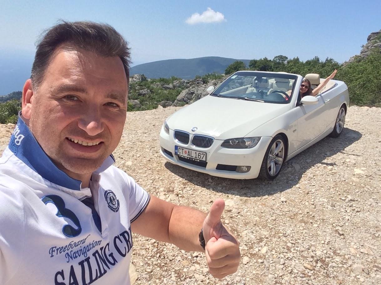 Кабриолет который мы арендовали в Черногории