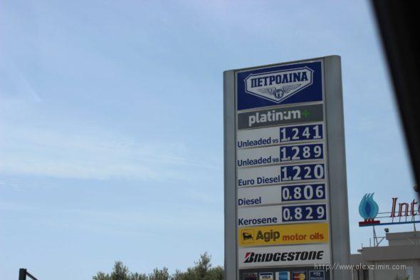 стоимость бензина Кипре цена на заправке