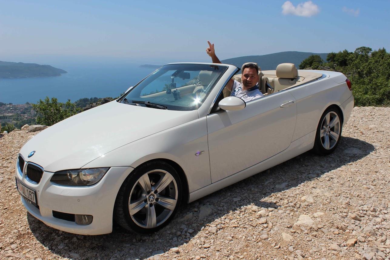 Арендованный в Budva Rent A Car кабриолет БМВ в сезоне 2017