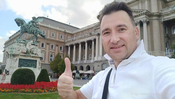 Алексей Зимин в Будапеште в Будайской крепости возле Королевского дворца