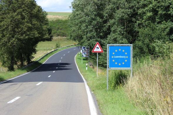 Граница между Бельгией и Люксембургом