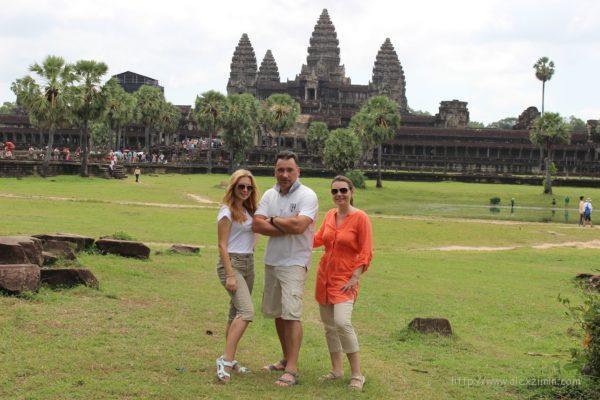 Камбоджа. Алексей Зимин с семьей