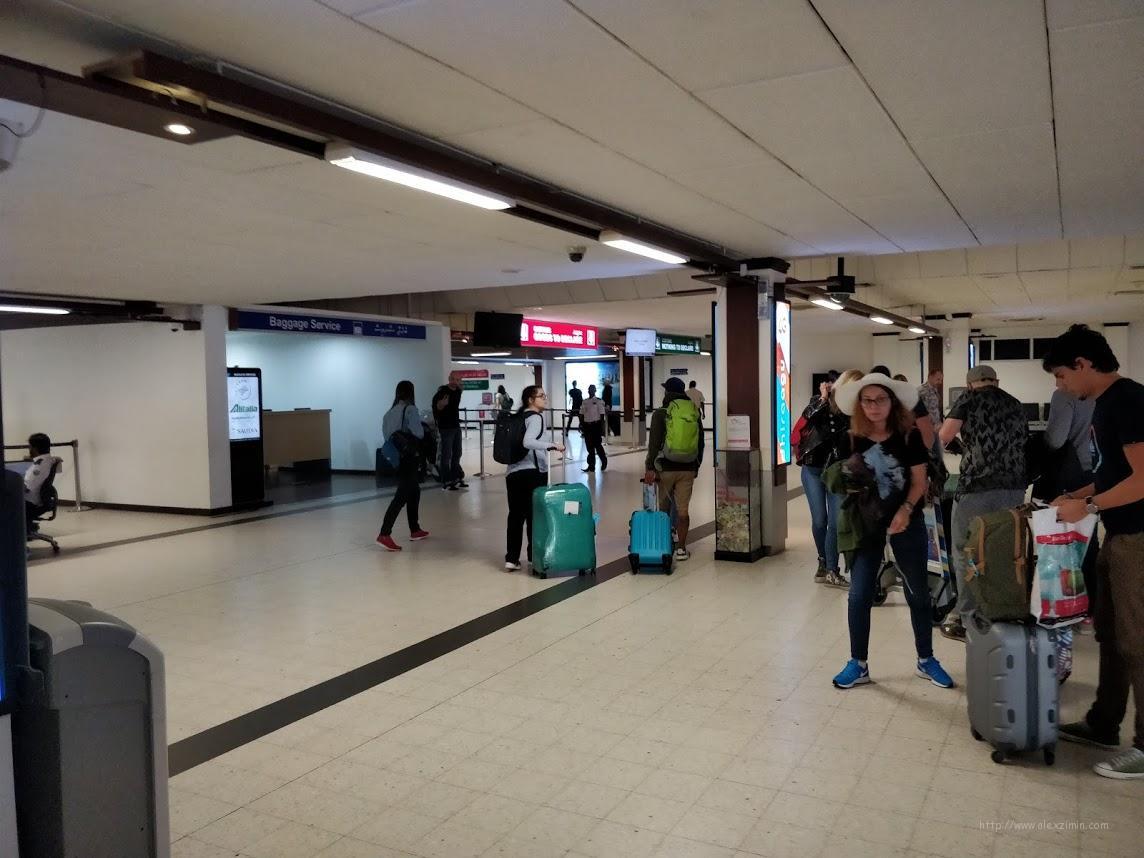 Зеленый коридор в аэропорту Мале Велана