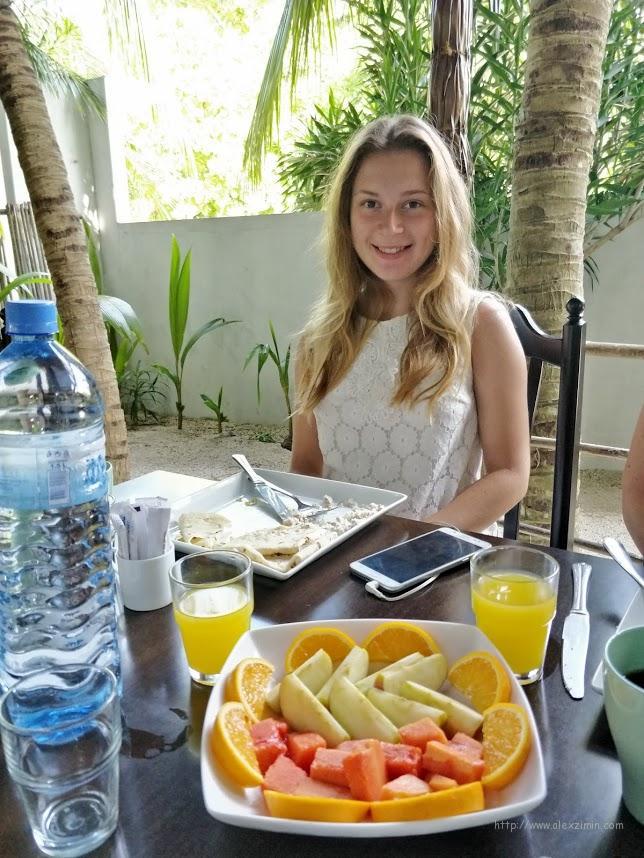 Отель 3 Hearts блюдо на завтрак