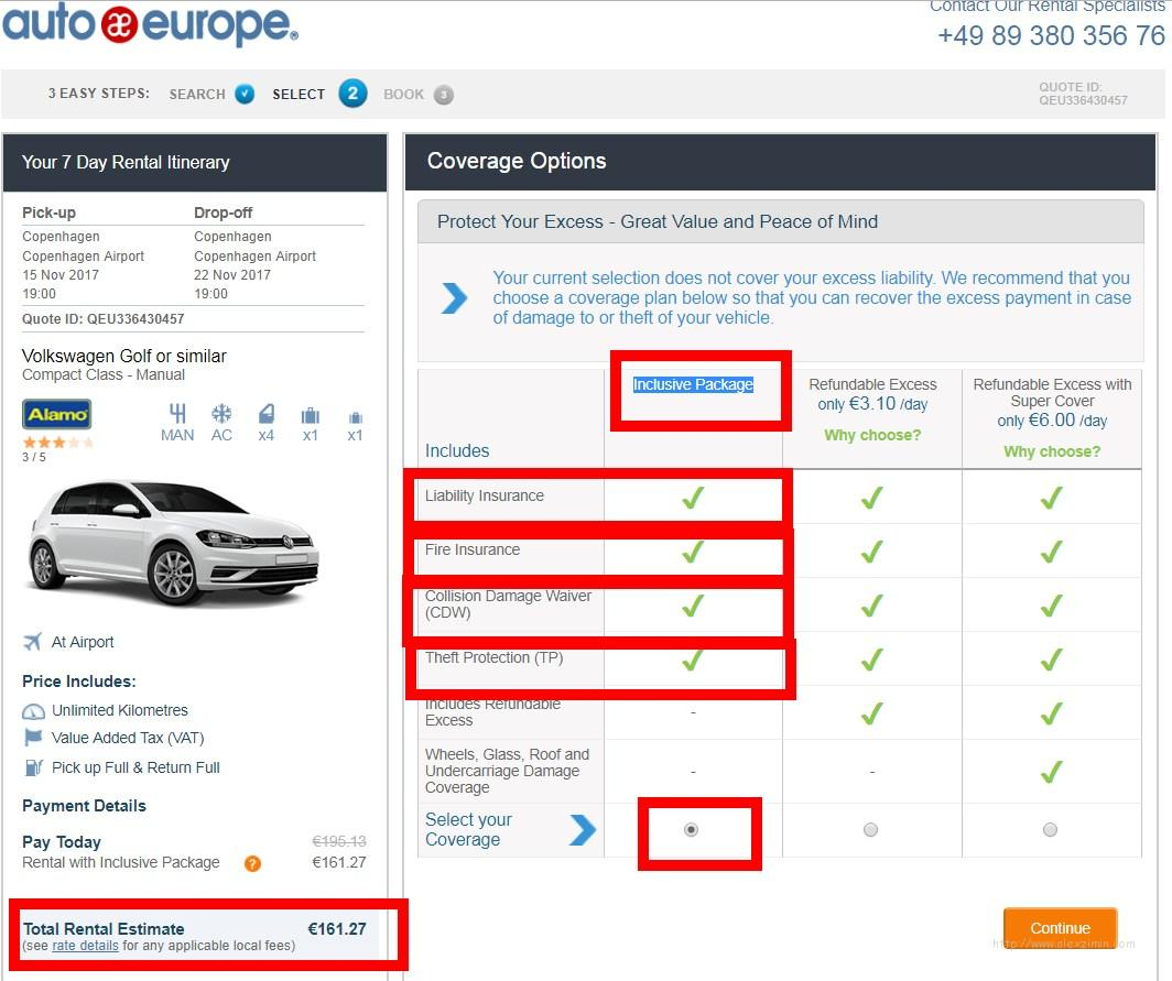 Аренда авто в Европе. Бронируем машину на сайте Autoeurope