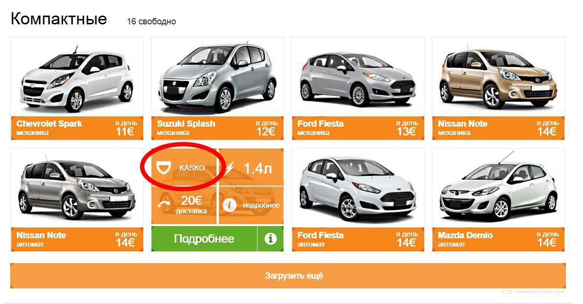Аренда машины на Кипре без франшизы и залога