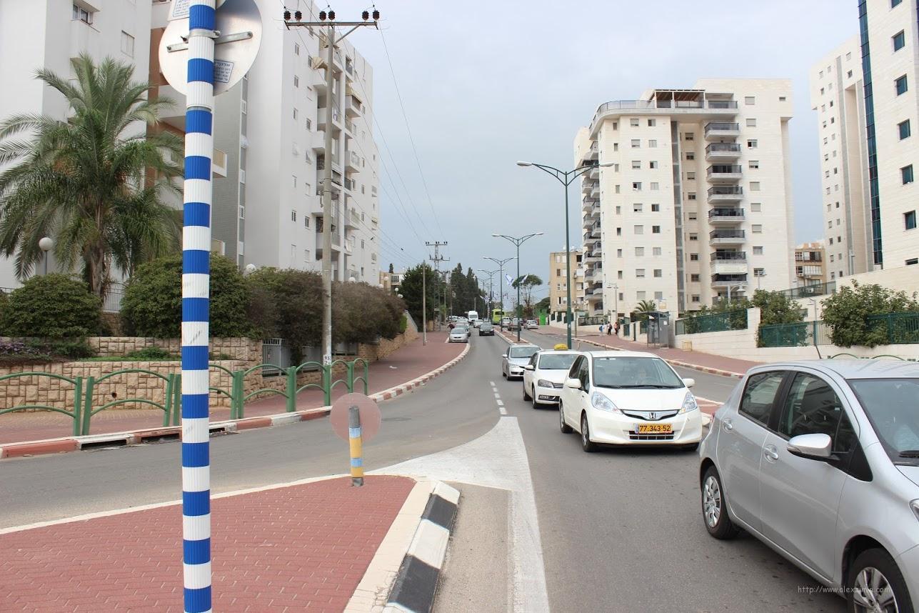 Дороги в Израиле Ашкелон. Один из перекрестков