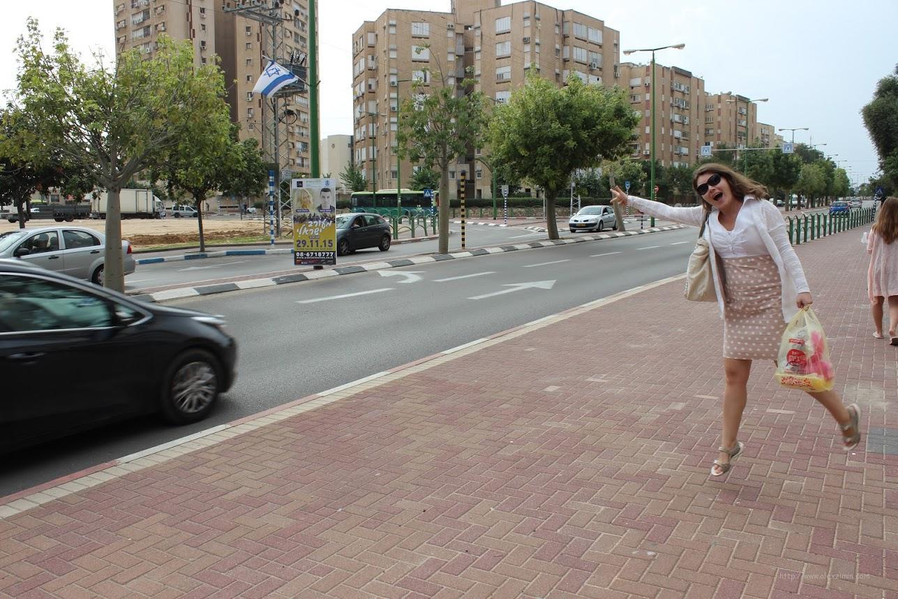 Дороги в Израиле и пешеходы