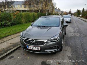 Машина, которую мы арендовали в Дании Опель