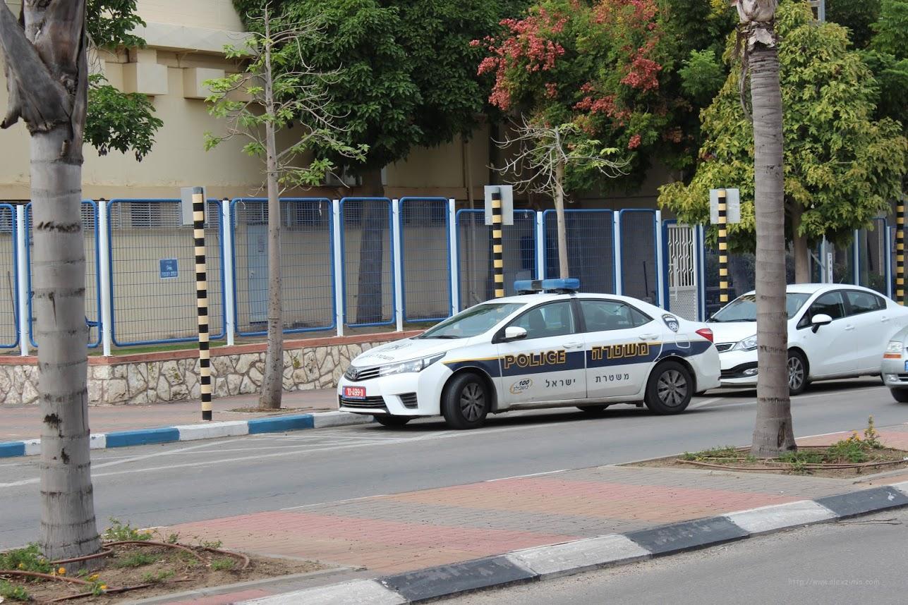 Полицейская машина в Израиле