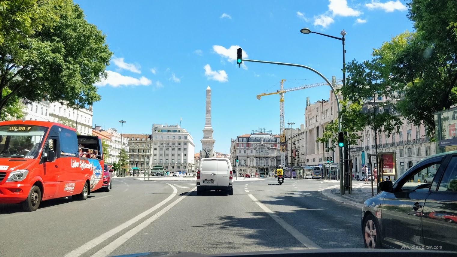 Дороги в Португалии. Центр Лиссабона
