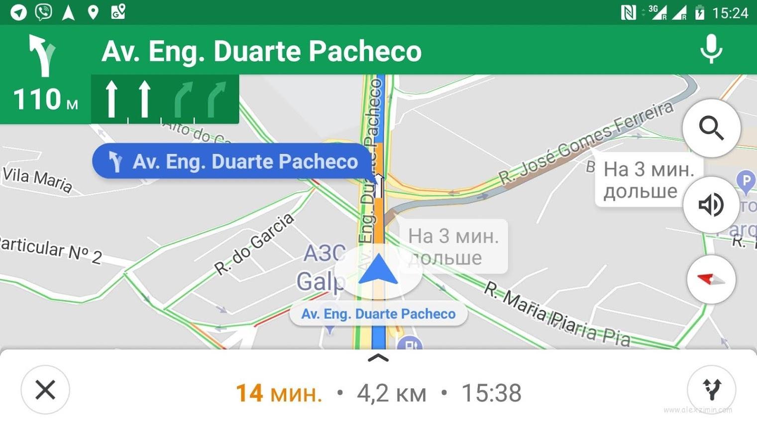 Направление движения по полосам в гугл мепс