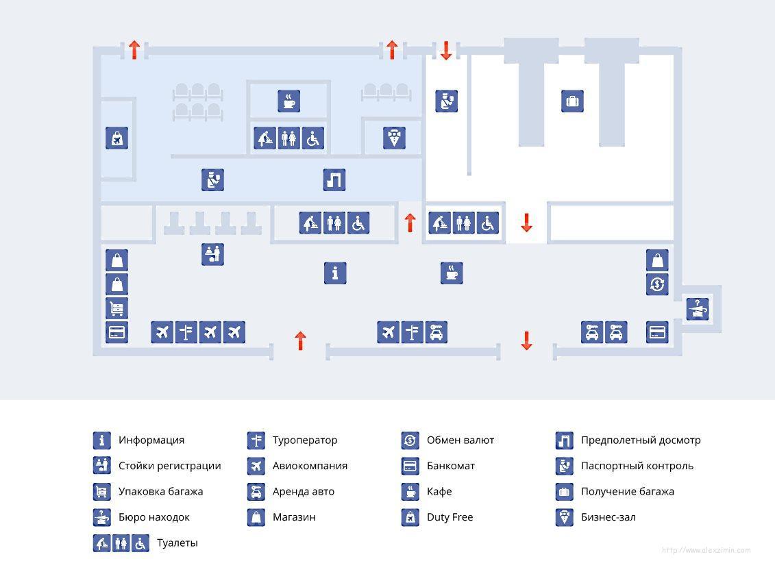 Схема инфраструктуры аэропорта Тиват