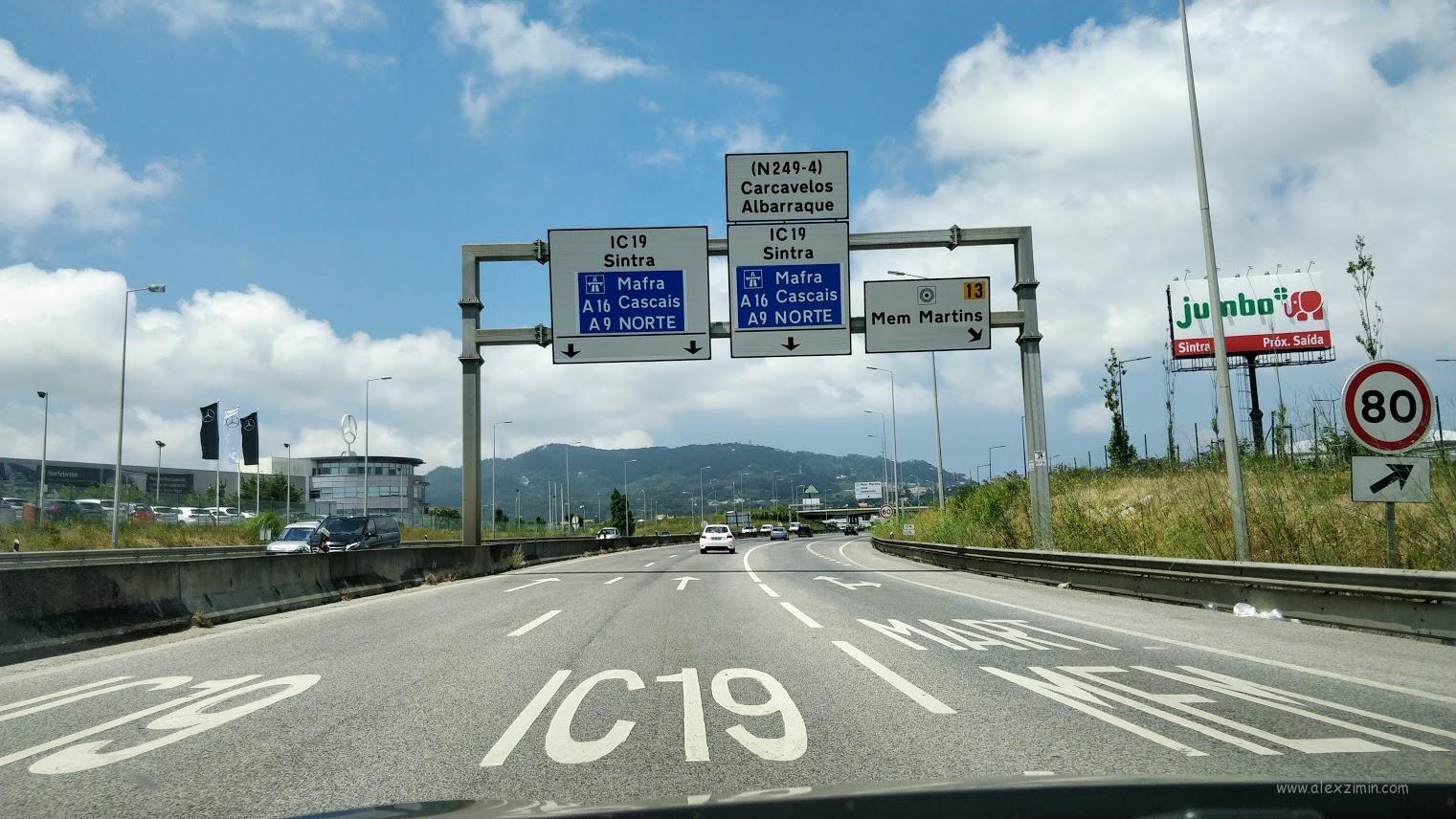 Платный автобан в Португалии