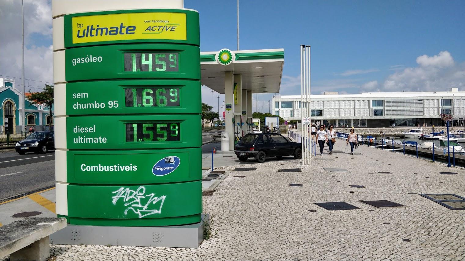 Стоимость топлива в Лиссабоне