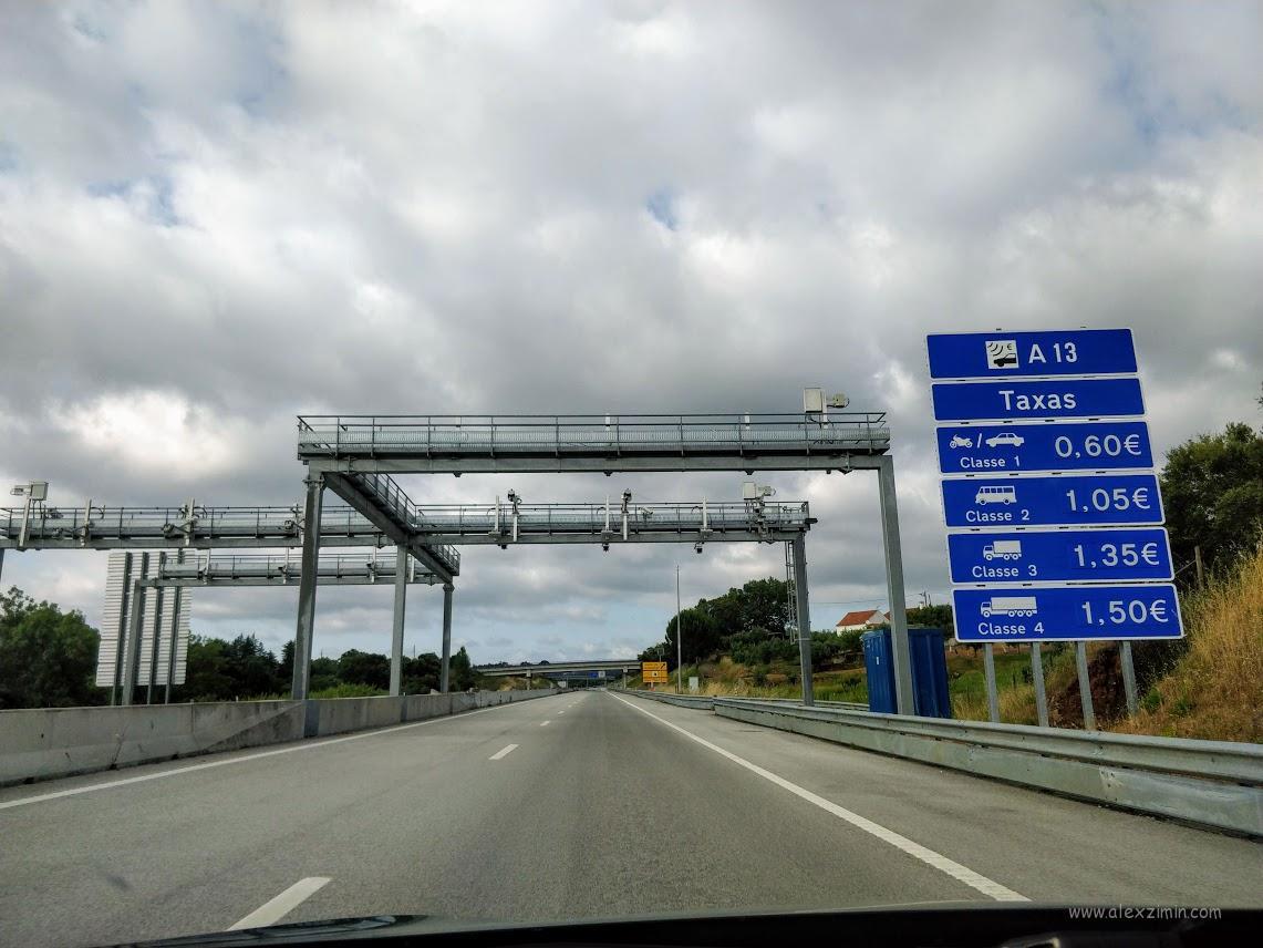 Автомагистрали в Португалии с электронной оплатой
