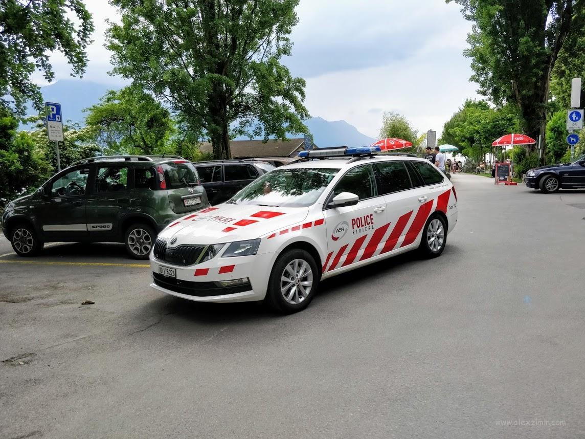 Полицейская машина. Швейцария