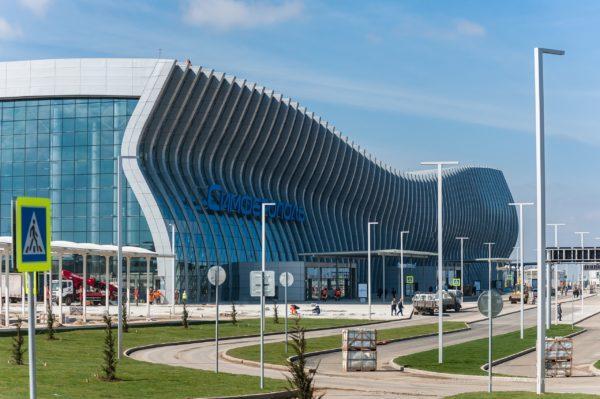Новый терминал аэропорта Симферополь в Крыму