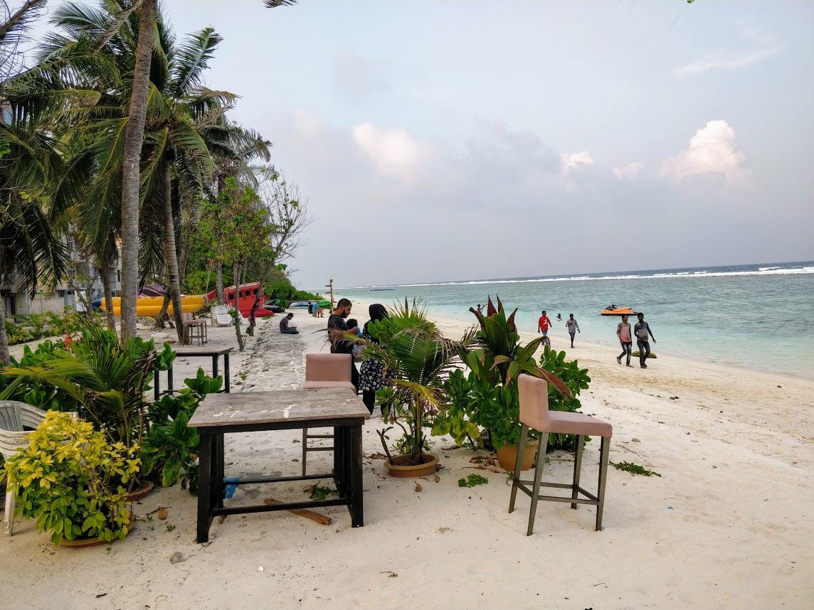 Хулхумале Мальдивы пляж