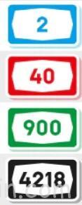 обозначение типа дороги в соответствии с цветом таблицы-указателя в Израиле