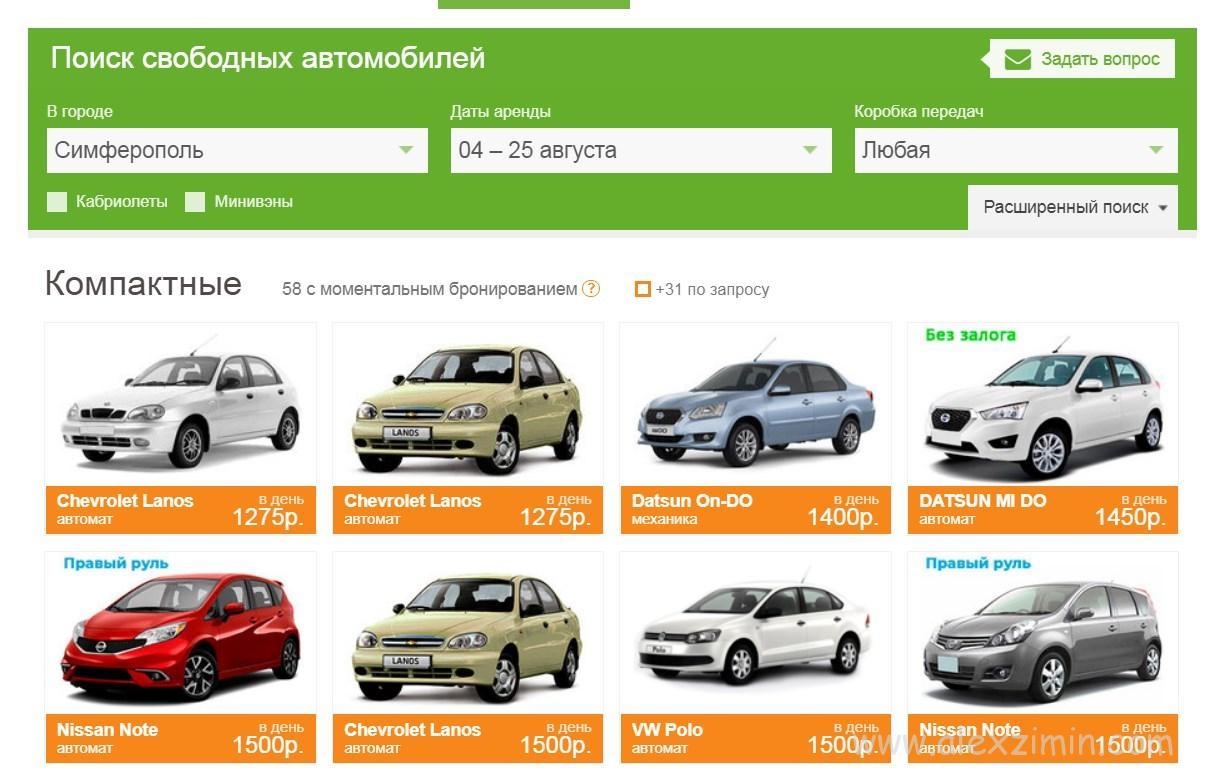 Прокат авто MyRentAcar в Крыму