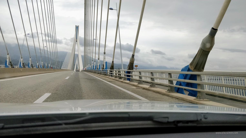 Платный мост в Греции в районе города Патры
