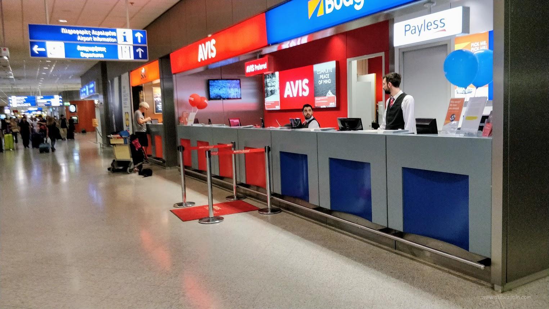 Прокатчики в афинском аэропорту Элефтериос Венизелос