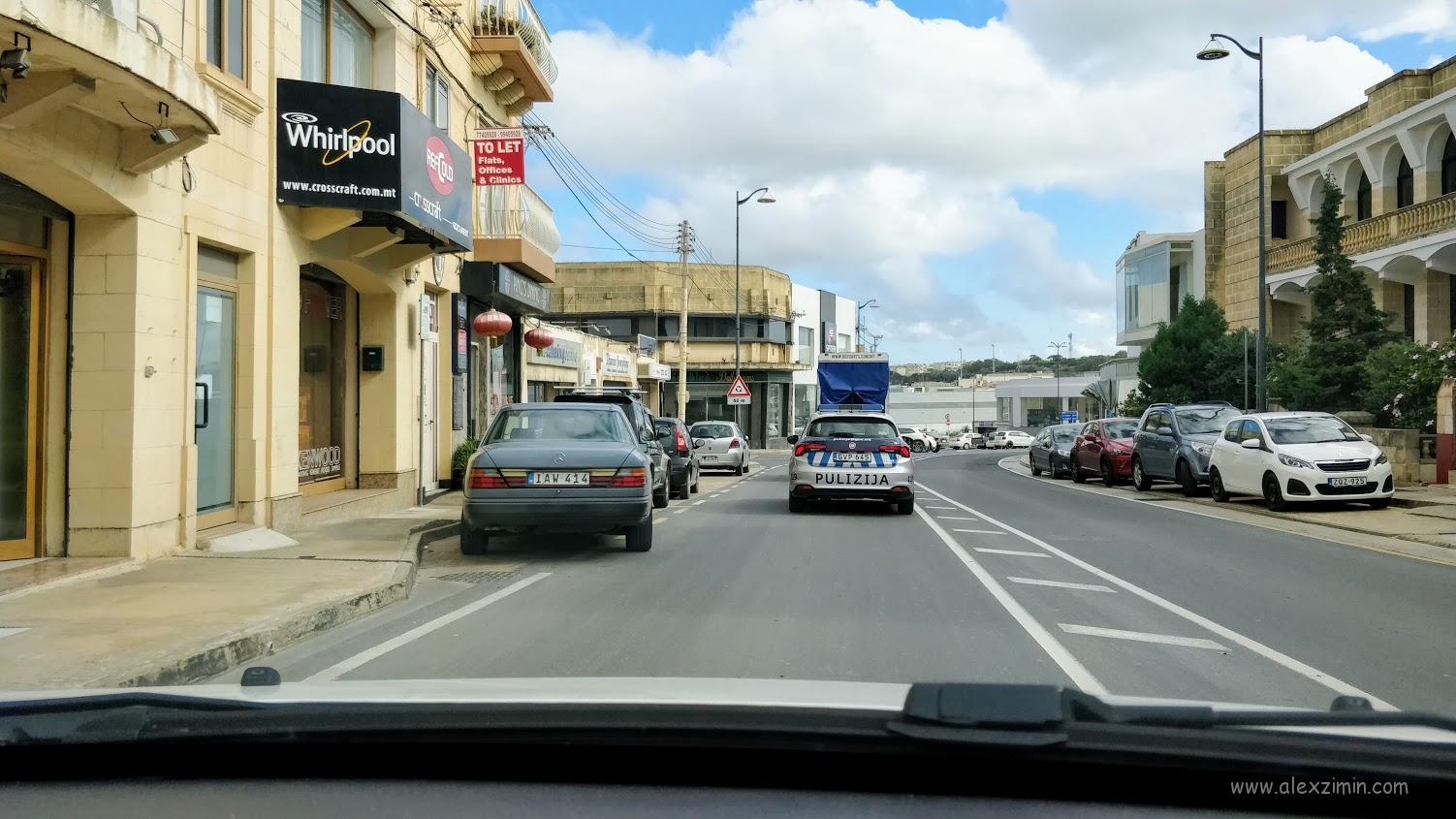 Полицейская машина на острове Гоцо (Мальта)