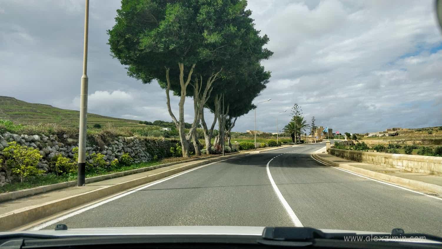 Дорога на острове Гоцо