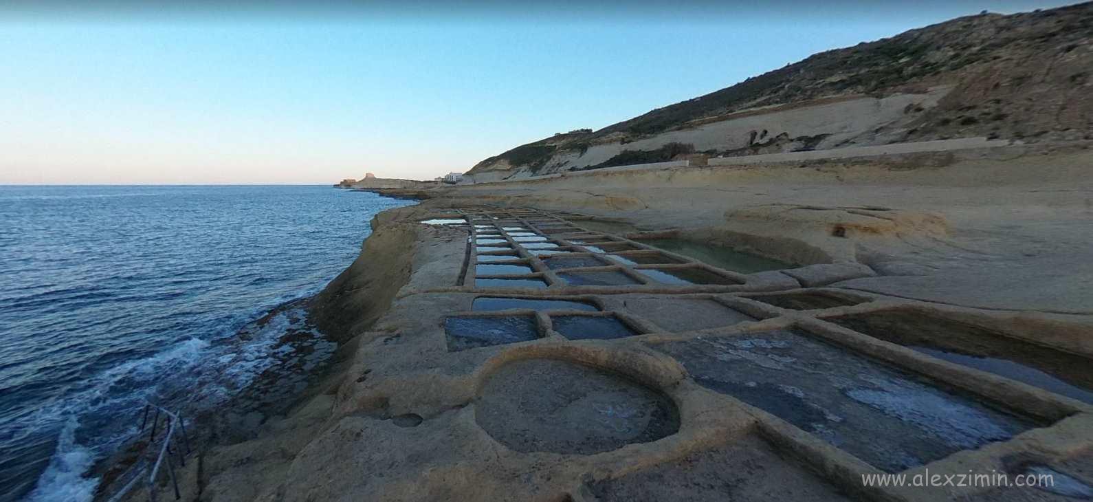 Соляные промыслы на острове Гоцо Мальта