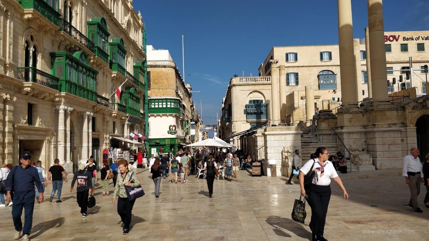 Центральная пешеходная улица Валетты Republic Street