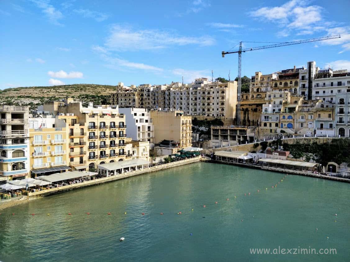 Бухта Шленди, Мальта