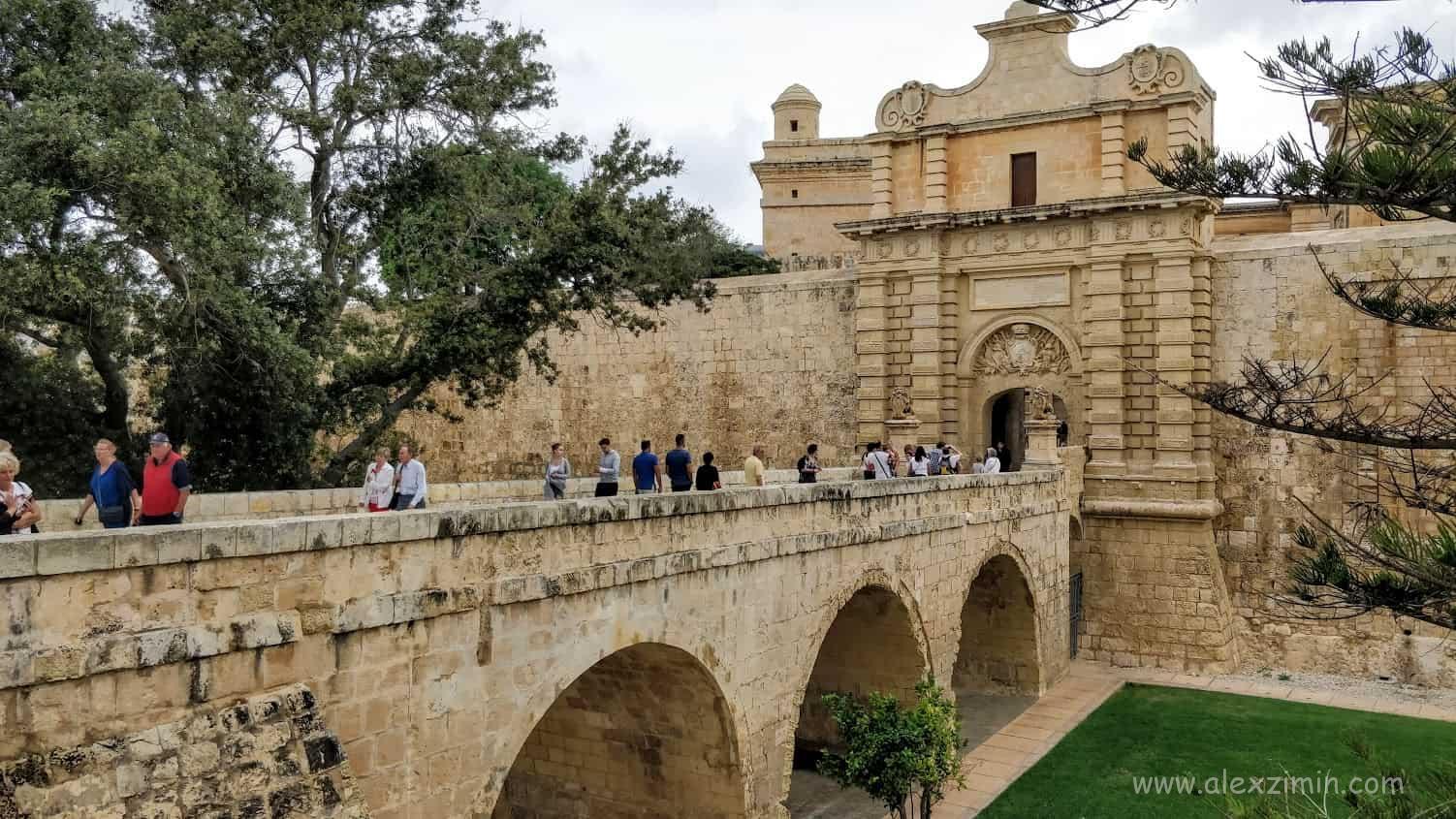 Ворота в древний город Мдина на Мальте