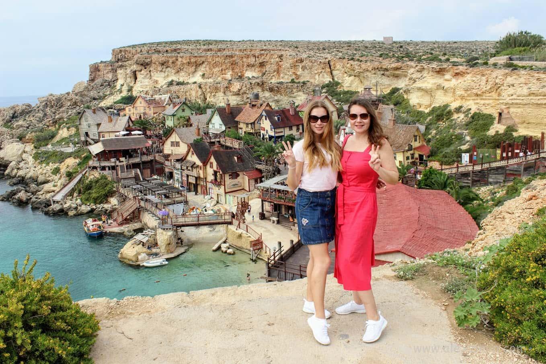 Деревня Попай на смотровой площадке (Popeye Village) Настя и Екатерина Зимина