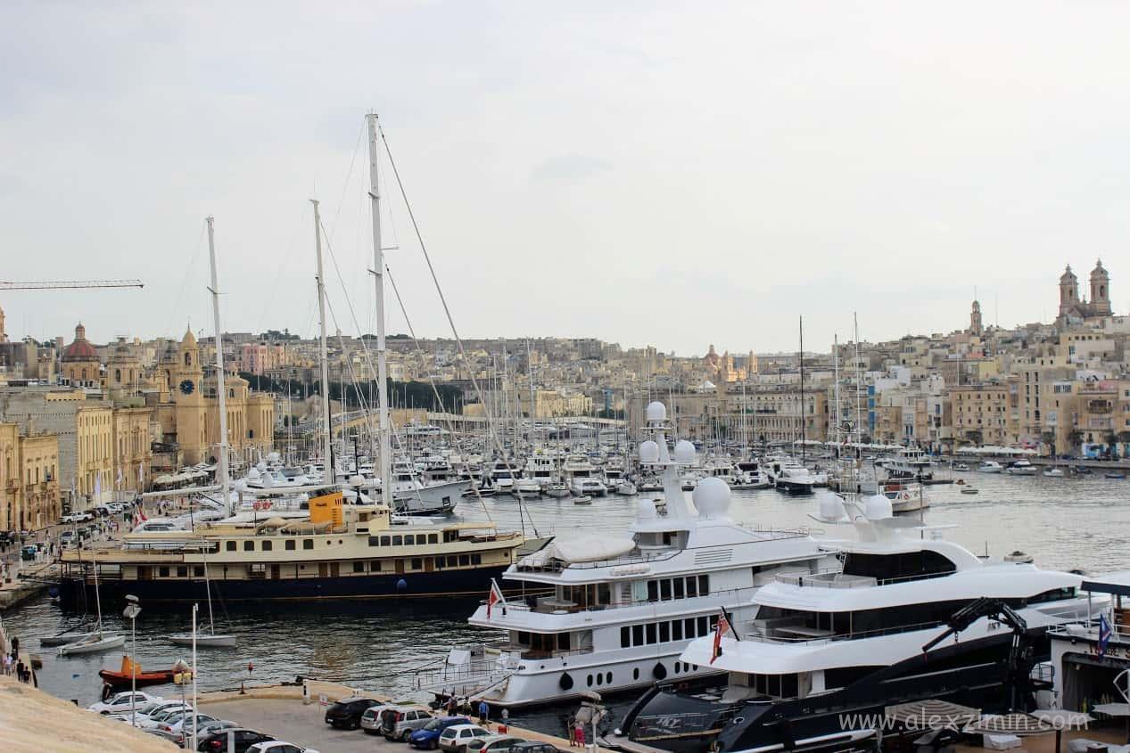 Вид на набережную Vittoriosa Waterfront