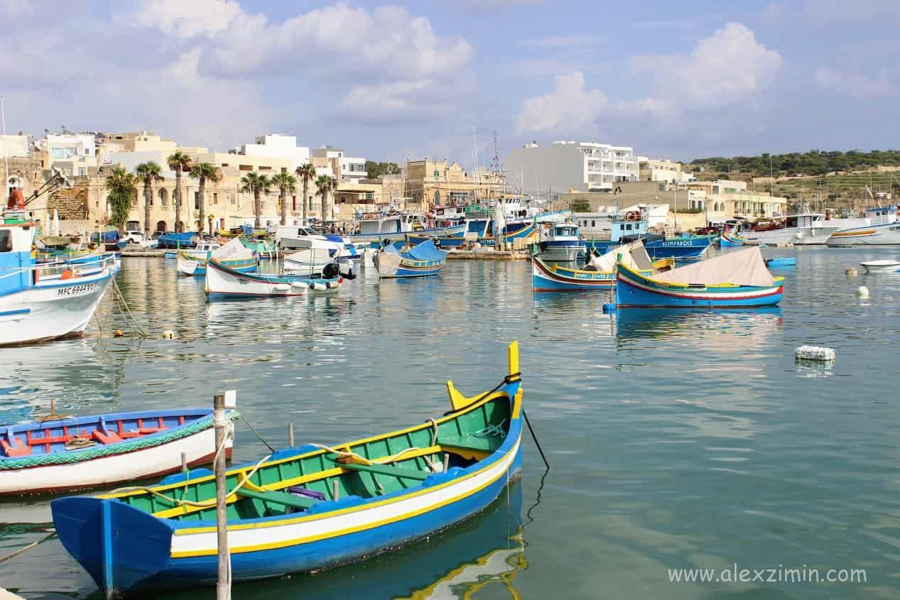 Рыбацкая деревушка Марсашлокк на Мальте