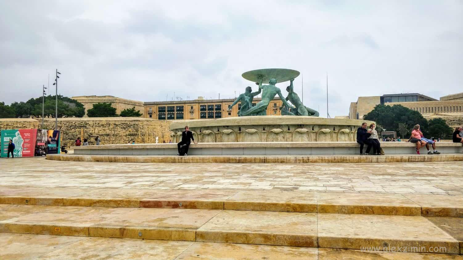 Triton Fountain Валетта Мальта