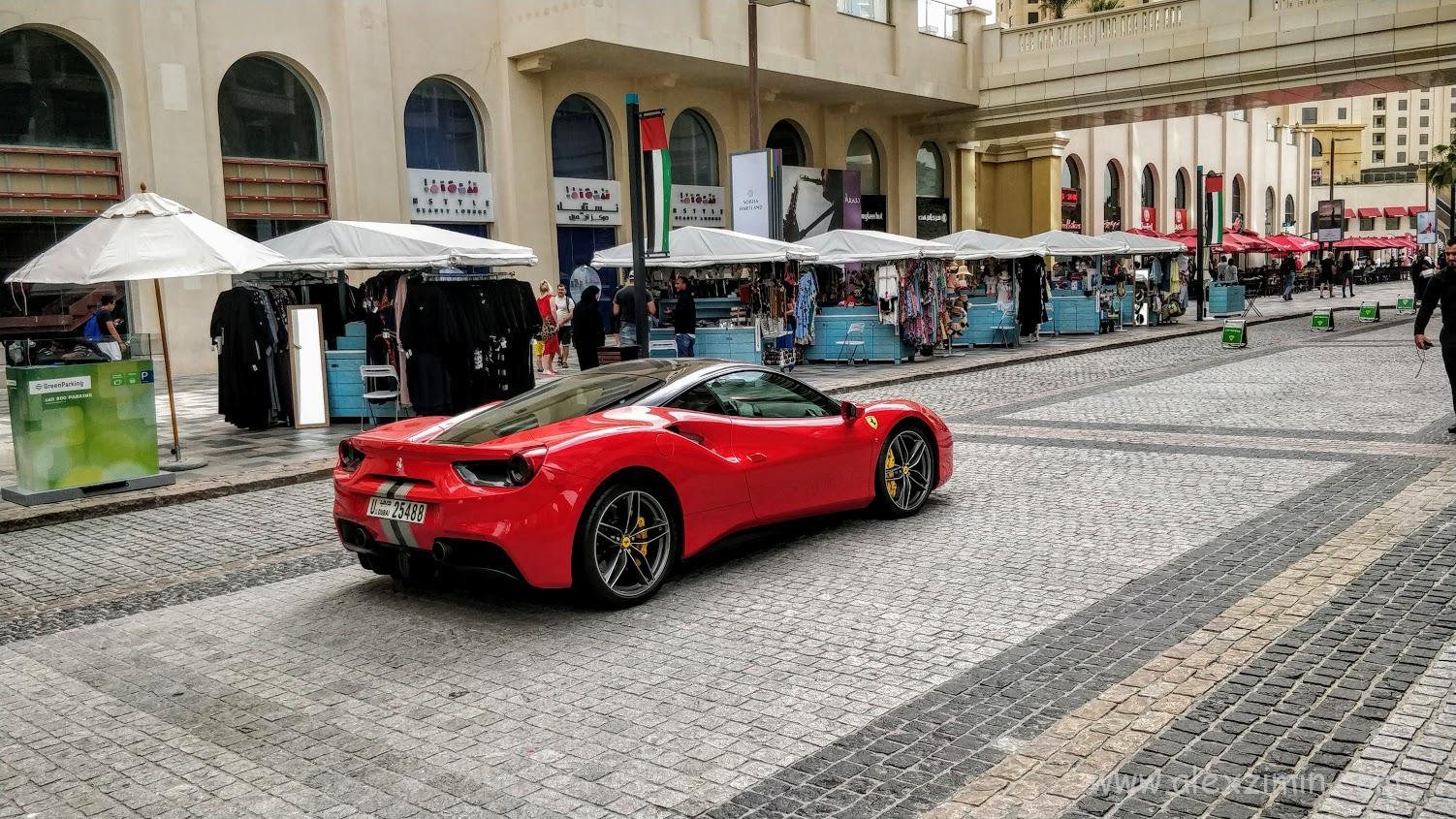 Аренда люксовых авто в Дубае. Красная Феррари