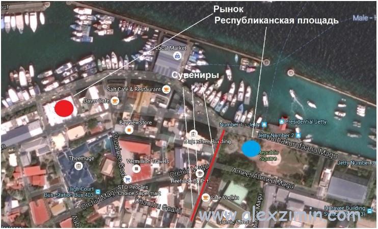 Что посмотреть в столице Мальдив Мале. Карта
