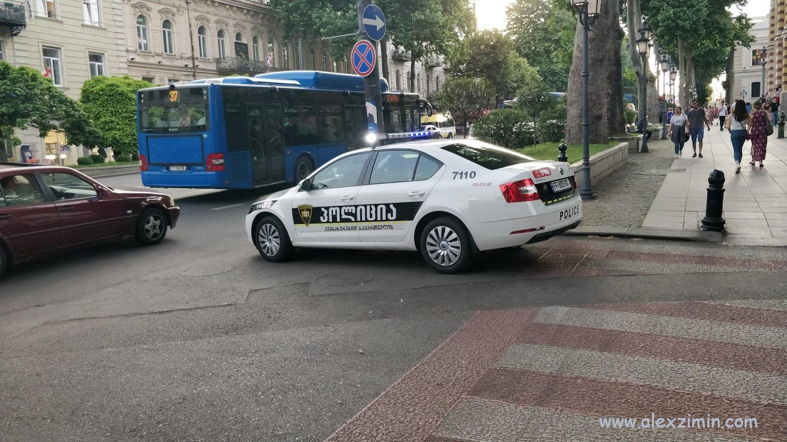 Машина полиции в Грузии