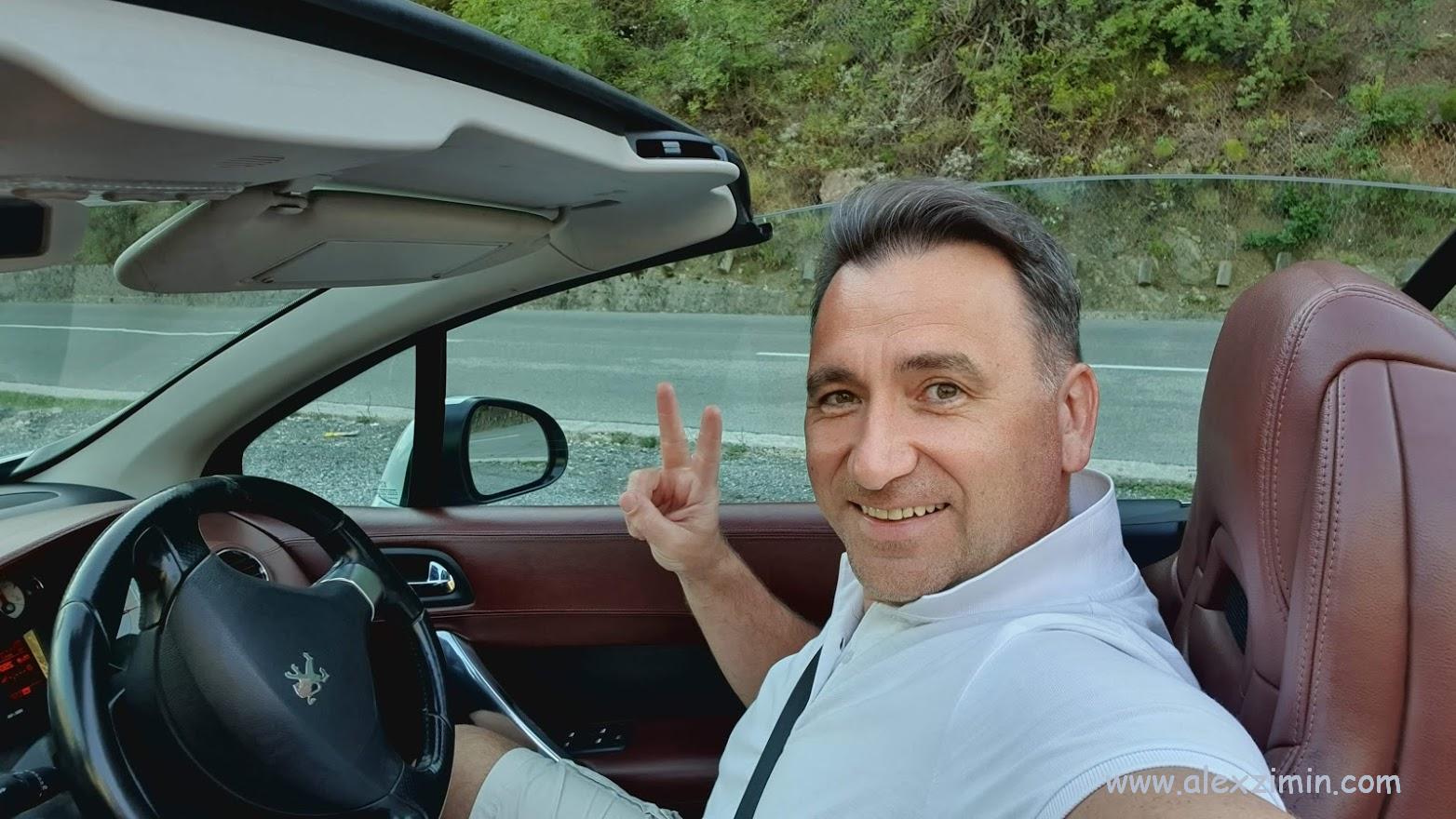 Алексей зимин на арендованном кабриолете в Турции